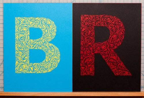 Custom paper cut letters-5