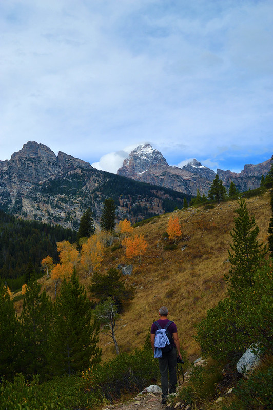 walking in Grand Teton