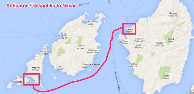 Antiparos to Naxos