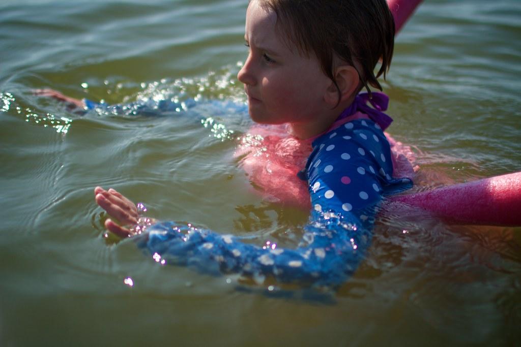 Swimming girl