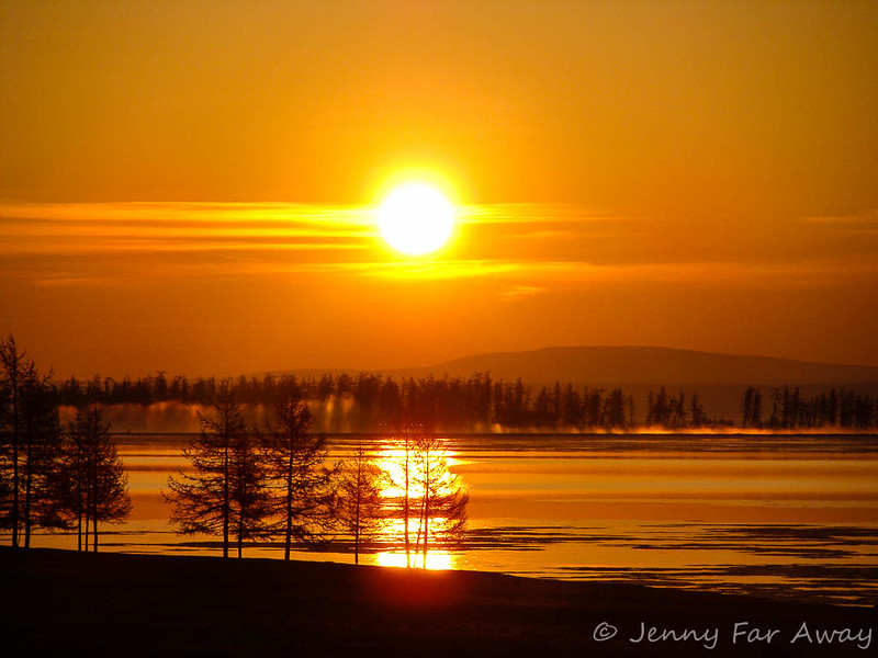 Sunrise over Lake Khovsgol, Mongolia