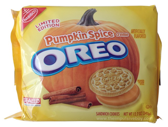 Nabisco Limited Edition Pumpkin Spice Oreo