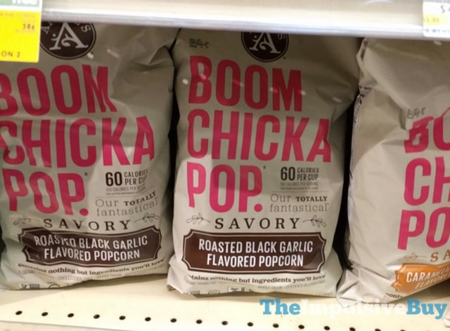 Angie's Boom Chicka Pop Savory Roasted Black Garlic Popcorn