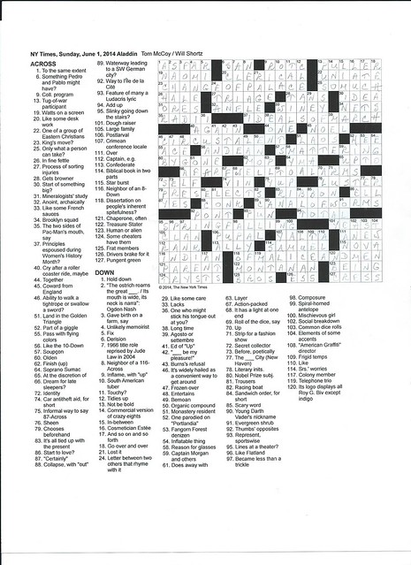 NYT Sunday Puzzle