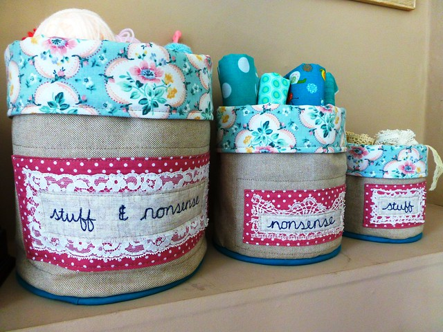 Piped Fabric Buckets