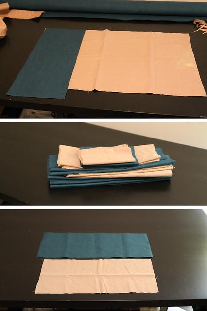 DIY Pleated Bedskirt Cut Liner