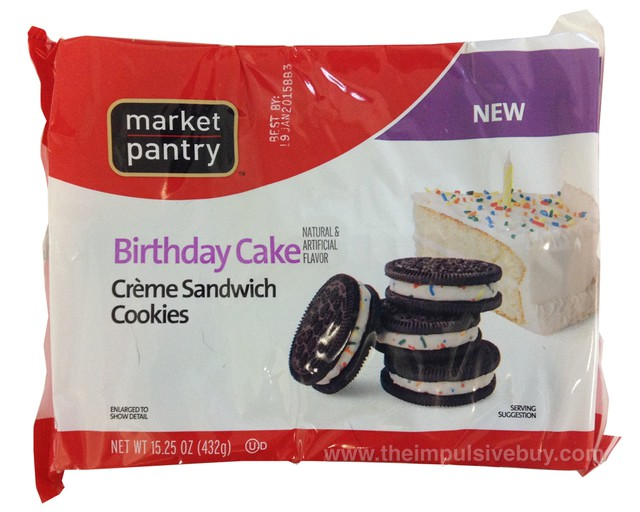 Market Pantry Birthday Cake Creme Sandwich Cookies