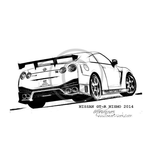 Nismo Nissan Gt R Coloring Pages