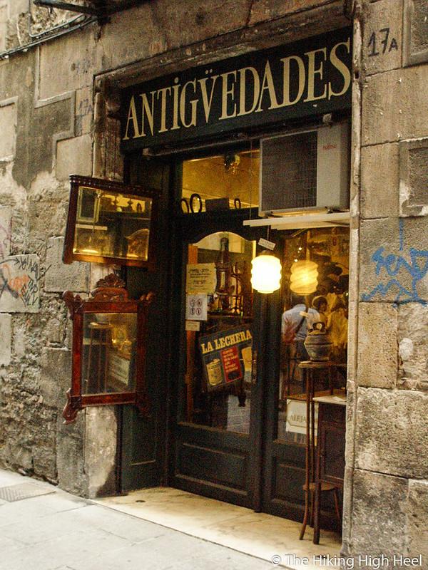 Antiquitätenladen in Barcelona