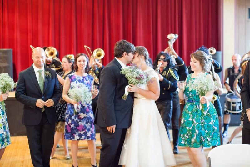 Detroit Brass Band wedding from @offbeatbride