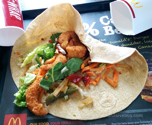 McDonald's Asian Crispy Shimp Signature McWrap 3