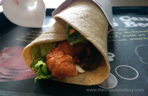 McDonald's Asian Crispy Shimp Signature McWrap 2