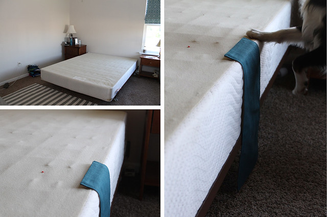 DIY Pleated Bedskirt Attach to boxspring