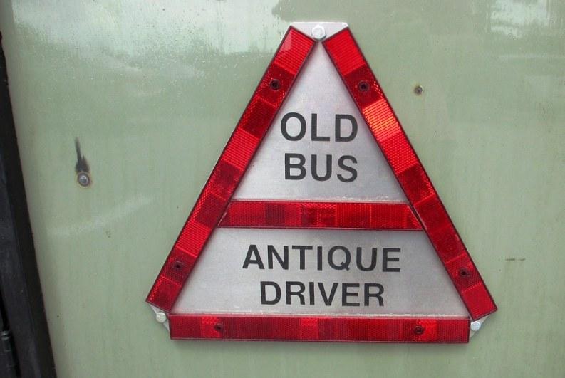 """Old Bus. Antique Driver."" Aug. 2, 2014"