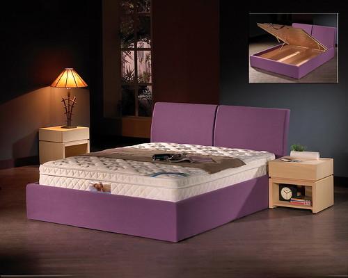 掀床工廠推薦款-仙蒂人造白橡床組-高質感排骨透氣掀床床架組1