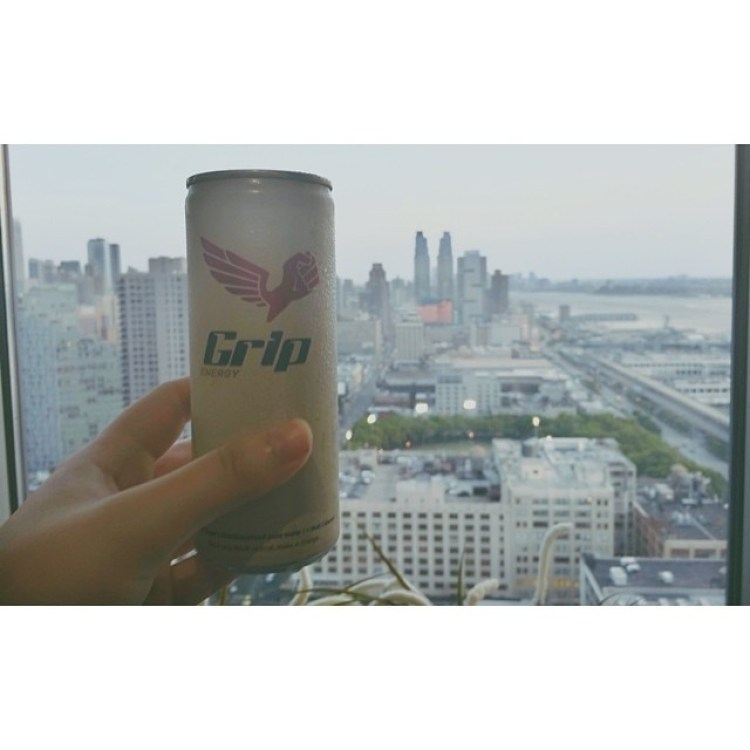 Enjoying an energy refill after a good day of shooting. Glad I brought this, the energydrinks over here are either nasty or unhealthy.   How about the view though?   #energydrink #getagrip #gripenergy @gripenergy