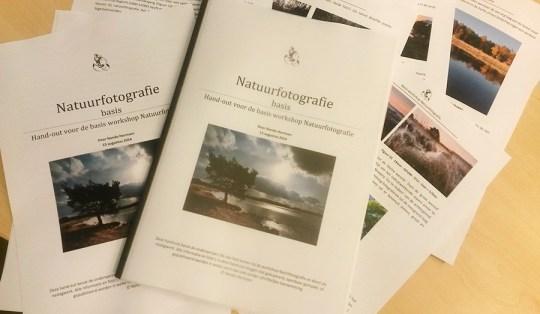 Digitale reader is uitgeprint een flink boekwerk geworden vol kostbare informatie over het fotograferen in de natuur