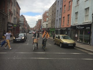 Cyclists in Dublin