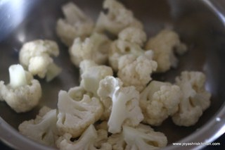 cauliflower- florets