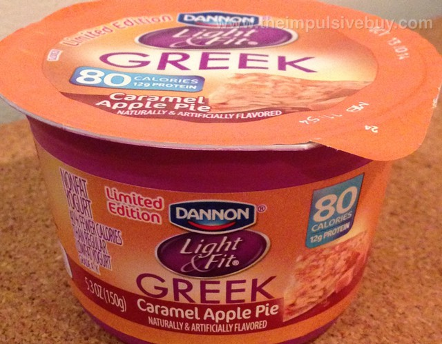 Dannon Limited Edition Light & Fit Greek Caramel Apple Pie Yogurt