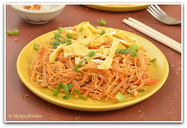 Malaysian Food, Malaysian Cuisine,  Rice Vermicelli, Blogging Marathon, Around the World in 30 Days with ABC Cooking