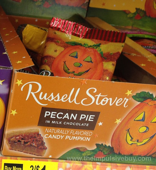 Russell Stover Pecan Pie Candy Pumpkin