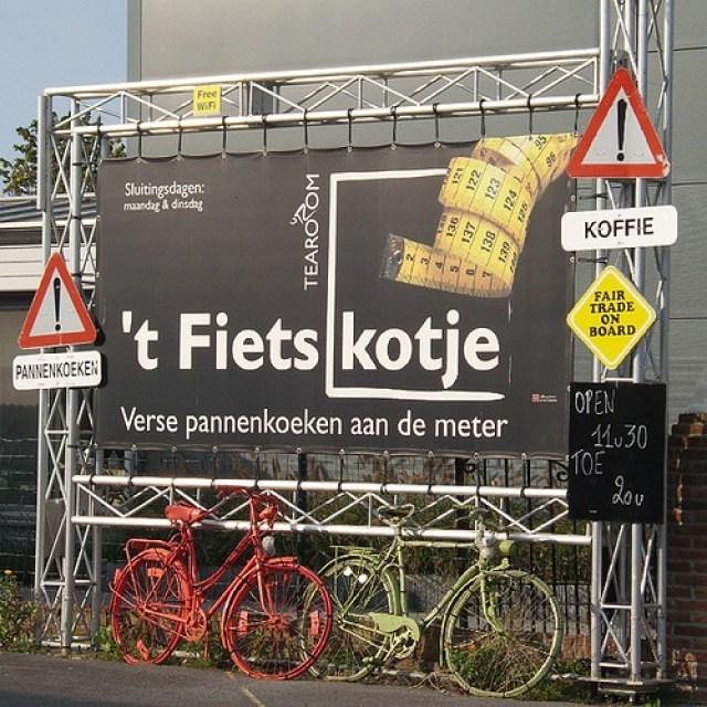 't Fietskotje in Bredene en pannenkoeken aan de lopende meter!