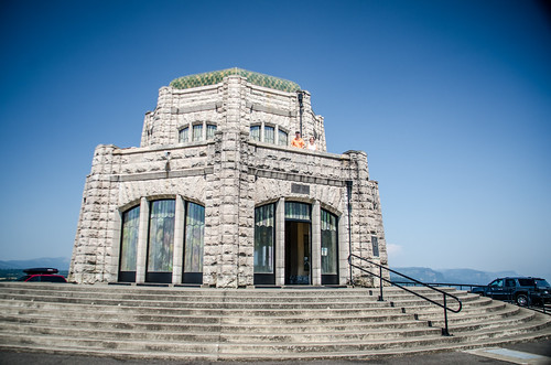 Vista House overlooking Columbia River Gorge
