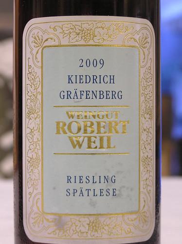 Robert Weil 2009 Riesling Spatlese Kiedricher Grafenberg Rheingau