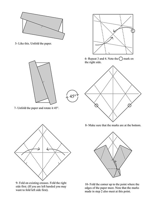 origami box diagram