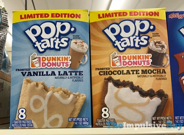Limited Edition Dunkin' Donuts Pop-Tarts (Vanilla Latte and Chocolate Mocha)