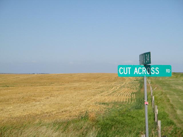 A field cut accross