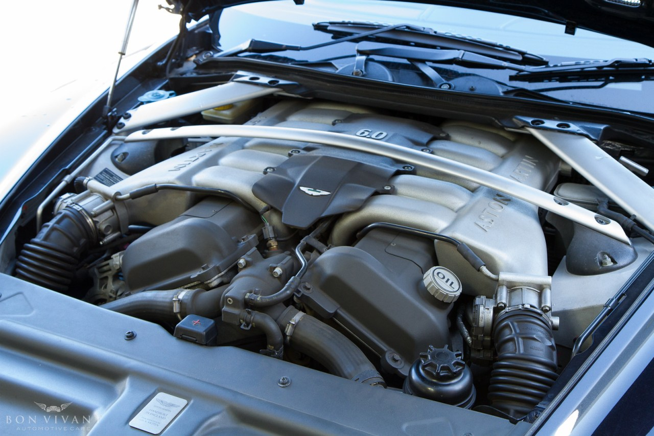 Aston Martin DB9 engine bay