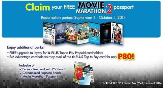 Claim FREE Movie marathon passport