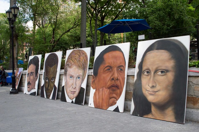 Art Paintings Outside Union Square New York