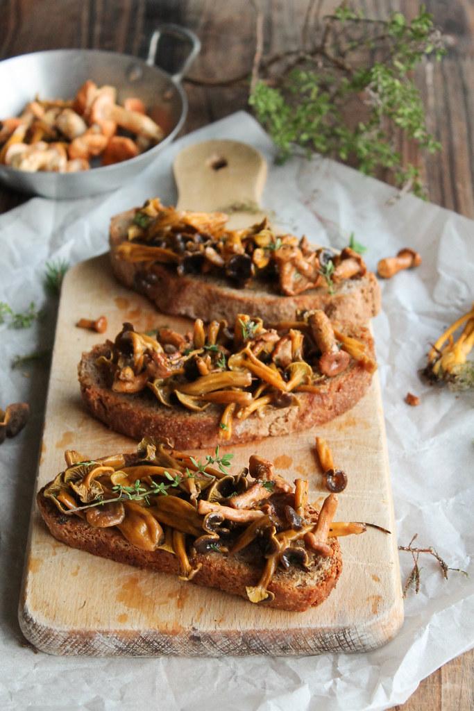 Recette tartines champignons