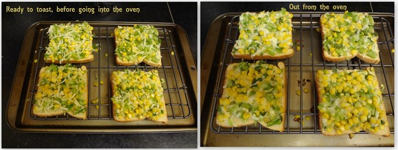 Corn capsicum toasties, Cooking from cookbooks challenge,