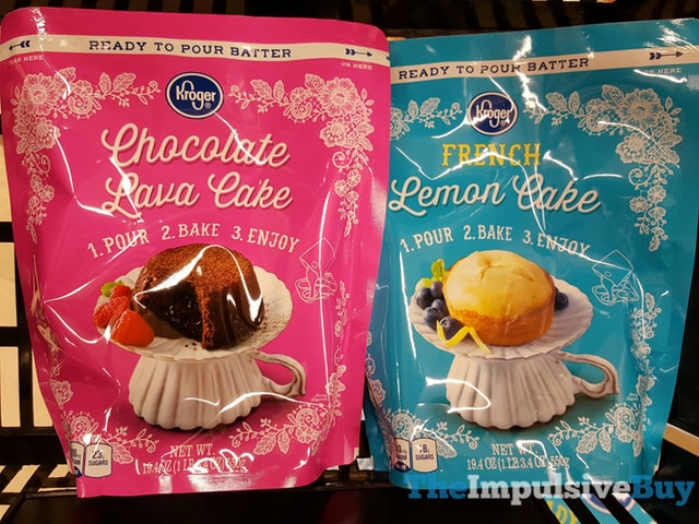 Kroger Ready To Pour Batter (Chocolate Lava Cake and French Lemon Cake)
