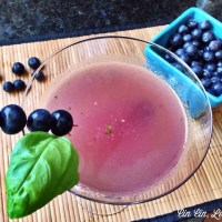 Blueberry Basil Limoncello Cocktail [recipe]