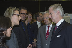 King Philippe talks with Belgian ESA employees
