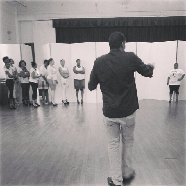 #rp @citylife_bda @jakoma_ doing his thing! Rehearsals for the show have officially begun! #cityfashionfestival #evolution2014 #behindtherunway #lifeinevents