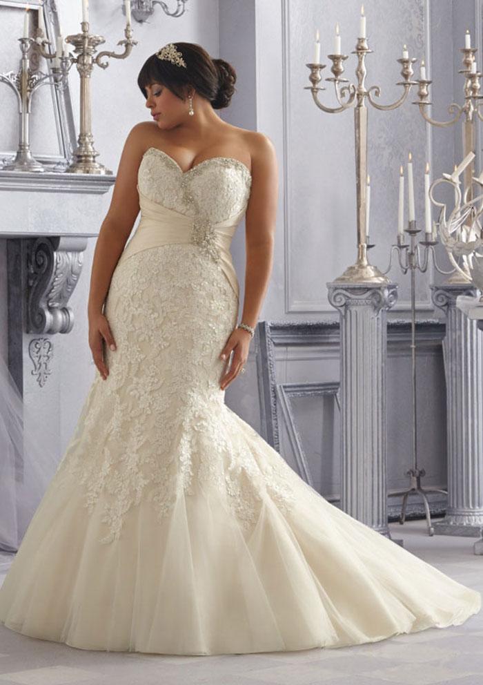 Plus Size Chiffon Wedding Dresses 91 Nice Plus Sizes TrumpetMermaid Sweetheart