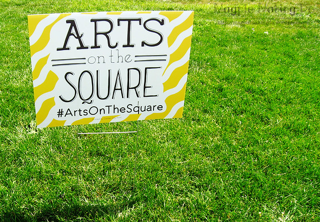 Arts on the Square Sign
