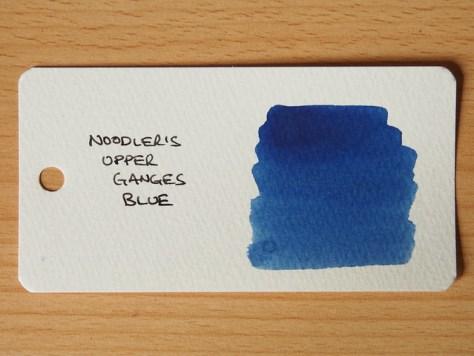 Noodler's Upper Ganges Blue - Word Card