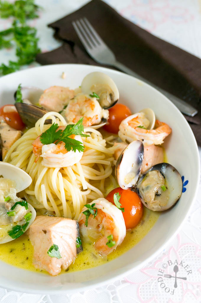 Gordon Ramsay's Spaghetti with Seafood Veloute