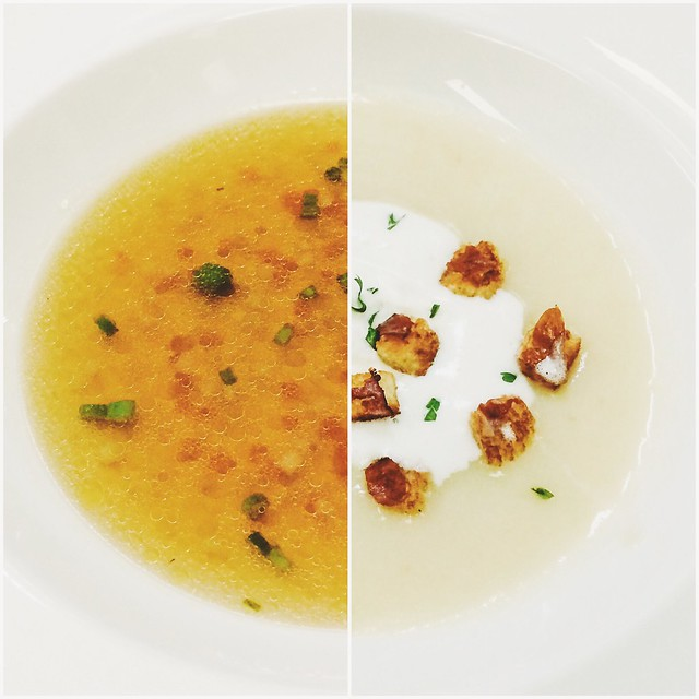 Consommé Brunoise and Parmentier Soup