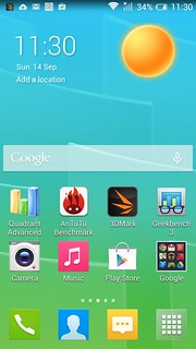 Home screen ของ Alcatel Onetouch Flash