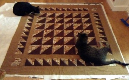 Helpering on Half Notes Quilt