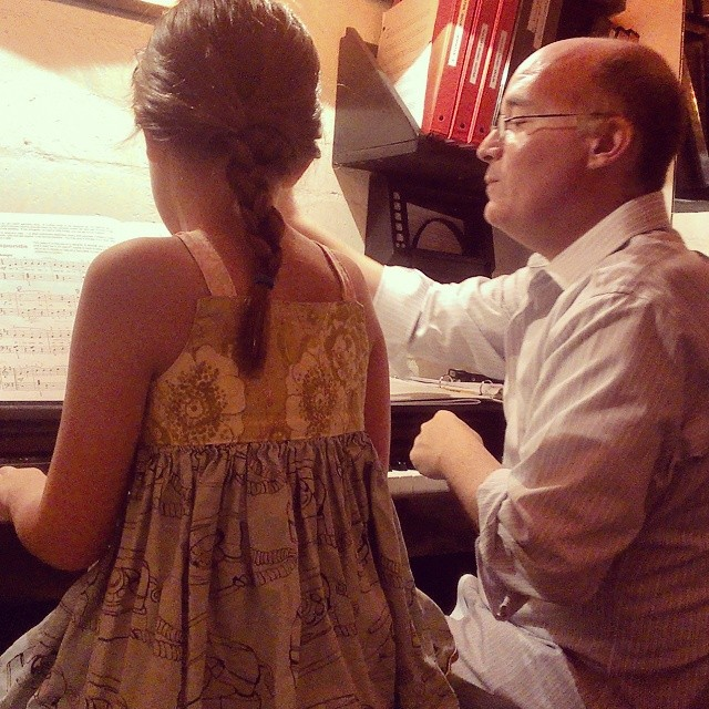 Intense piano lesson tonight... #mygirllovesbach #sheplaysbetterthanido