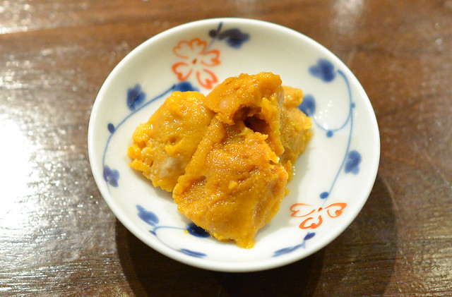 Sea Urchin marinated one month in miso